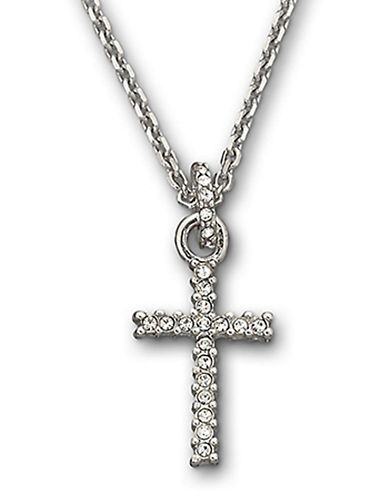 Swarovski Mini Cross Pendant-SILVER-One Size