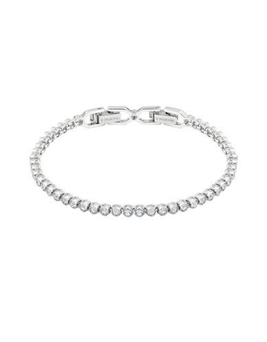 Swarovski Emily Crystal Rhodium-Plated Bracelet-SILVER-One Size