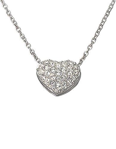 Swarovski Heart Pendant-SILVER-One Size