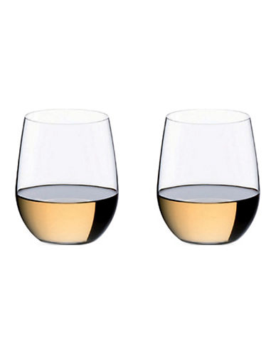 Riedel O Viognier/Chardonnay Stemless Wine Glasses - Set of 2-CLEAR-One Size