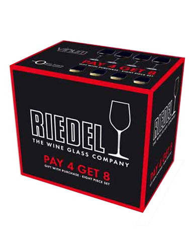 Riedel Vinum Red and White Wine Glasses - Set of 8-CLEAR-Assorted