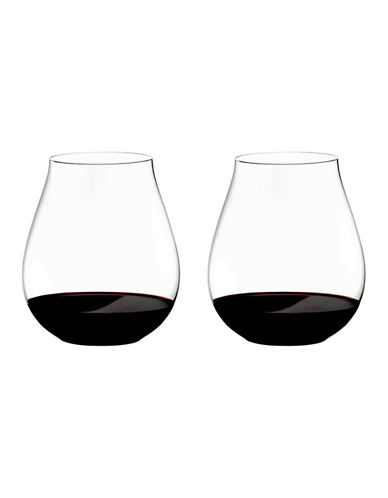 Riedel O Pinot Nebbiolo Stemless Wine Glasses Set of 2-CLEAR-One Size