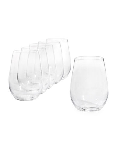 Riedel 260 Years O Wine Tumblers Six-Pack for Riesling and Zinfandel-CLEAR-One Size