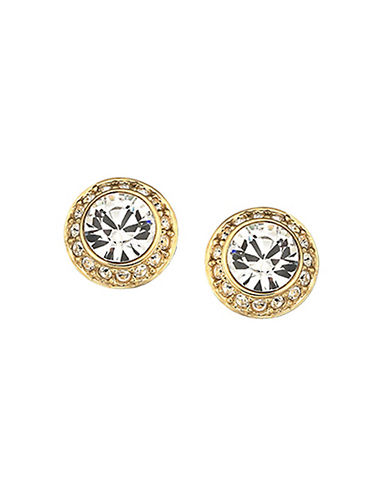 Swarovski Angelic Pierced Earrings Goldplated-GOLD-One Size