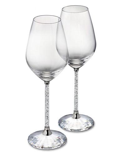 Swarovski Crystalline Red Wine Glasses Set of 2-CLEAR-One Size
