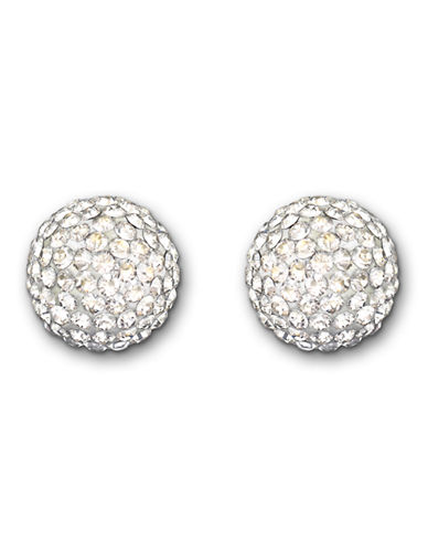 Swarovski Pop Stud Pierced Earrings-SILVER-One Size