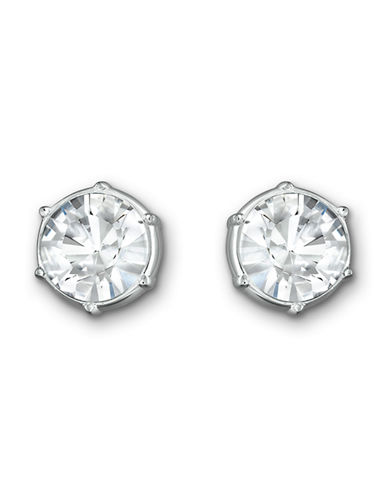 Swarovski Typical Pierced Earrings-SILVER-One Size