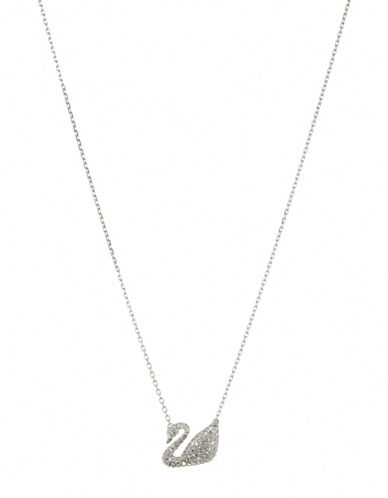 Swarovski Swan Necklace-SILVER-One Size