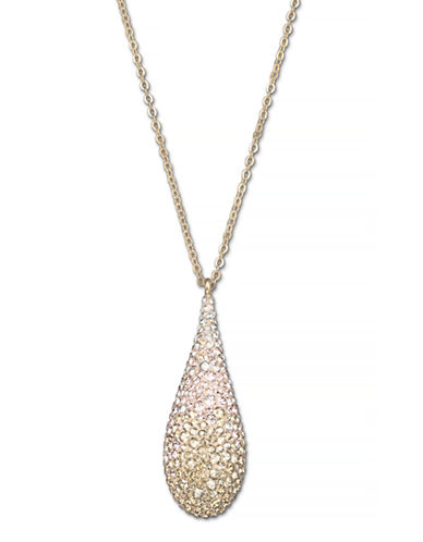 Swarovski Abstract Pendant Necklace-GOLD-One Size 86901107_GOLD_One Size