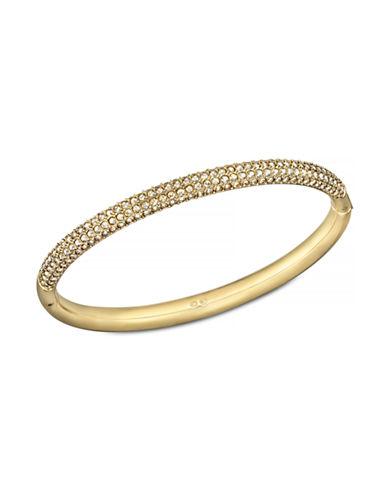 Swarovski Mini Stone Bangle Bracelet-GOLD-One Size