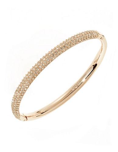 Swarovski Hinged Pave Crystal Bangle-GOLD-One Size