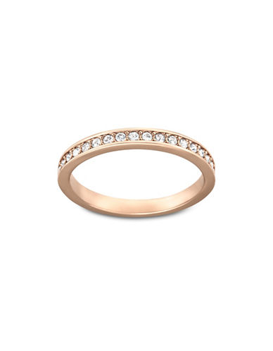 Swarovski Rose-goldtone Crystal Rare Ring-ROSE GOLD-8