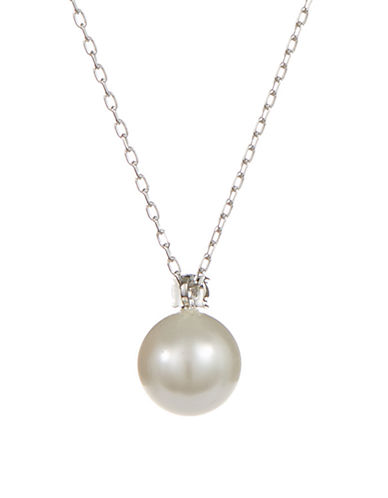 Swarovski Tricia Pearl Pendant Necklace-WHITE-One Size