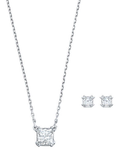 Swarovski Attract Set-SILVER-One Size