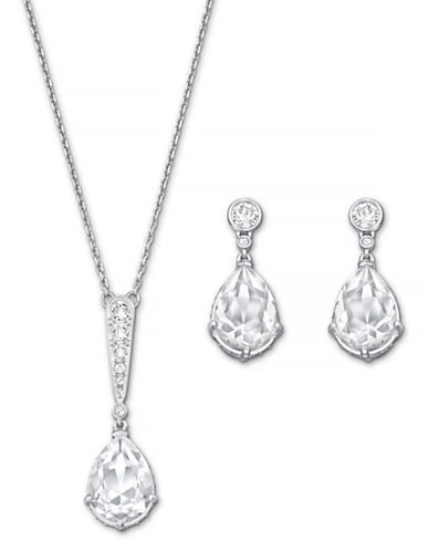 Swarovski Vintage Necklace and Earring Set-CRYSTAL-One Size
