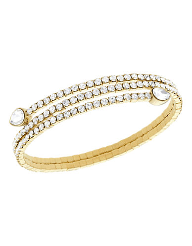 Swarovski Twisty Bangle Drop-GOLD-One Size