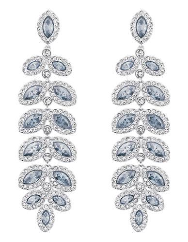 Swarovski Silver Tone Swarovski Crystal Drop Earring-BLUE-One Size