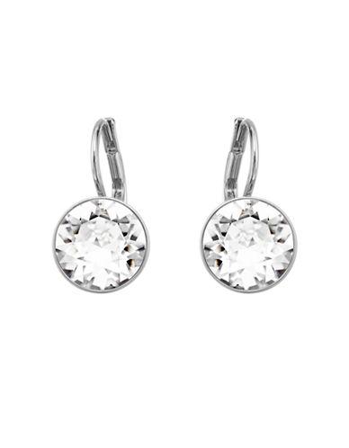 Swarovski Silver Plated Swarovski Crystal Dangle Earring-SILVER-One Size