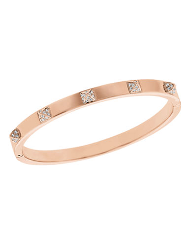 Swarovski Rose Gold Tone Swarovski Crystal Bangle-ROSE GOLD-One Size