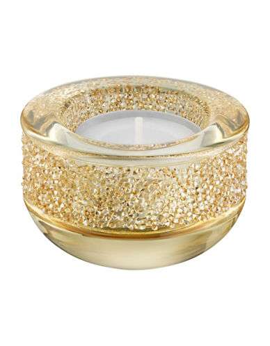Swarovski Shimmer Tea Light Holder-GOLD-One Size