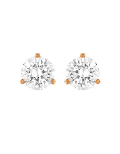 Swarovski Rose Gold Tone Swarovski Crystal Stud Earring-CRYSTAL-One Size