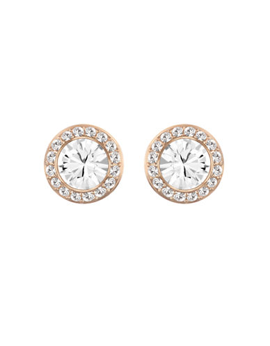Swarovski Rose Gold Plated Swarovski Crystal Stud Earring-CRYSTAL-One Size