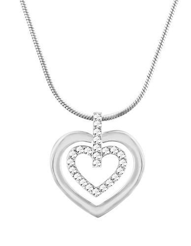 Swarovski Circle Heart Swarovski Crystal Pendant Necklace-SILVER-One Size