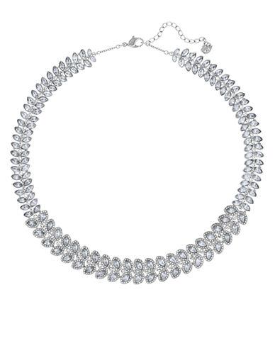 Swarovski Silver Tone Swarovski Crystal Baron Collar Necklace-SILVER-One Size