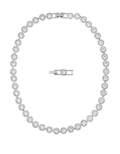 Swarovski Silver Tone Swarovski Crystal Angelic Collar Necklace-SILVER-One Size