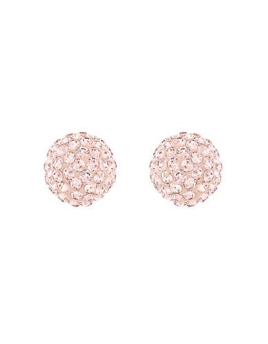 Swarovski Silver Tone Swarovski Crystal Blow Stud Earring-ROSE-One Size