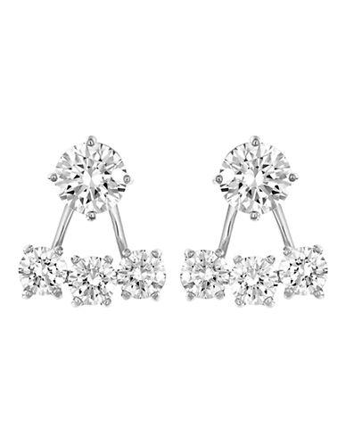 Swarovski Silver Tone Swarovski Crystal Stud Earring-SILVER-One Size