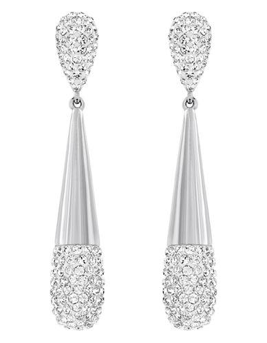 Swarovski Silver Tone Swarovski Crystal Drop Earring-CRYSTAL-One Size