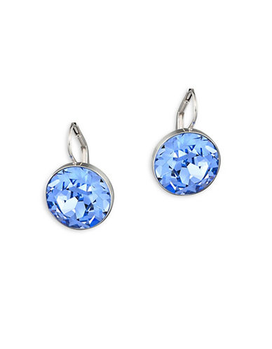 Swarovski Bella Crystal Rhodium-Plated Drop Earrings-BLUE-One Size
