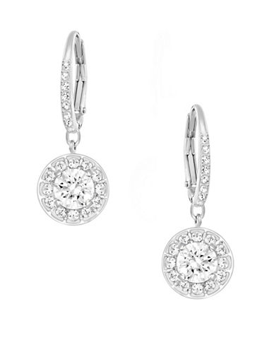 Swarovski Attract Light Crystal Pierced Earrings-SILVER-One Size