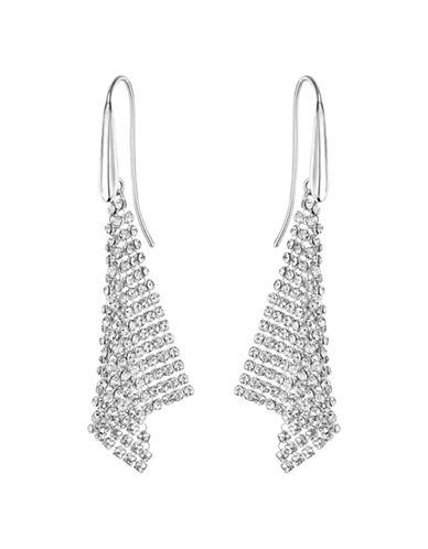 Swarovski Crystal Triangular Drop Earrings-SILVER-One Size