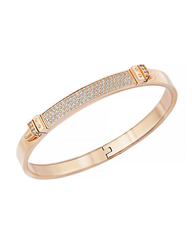 Swarovski Distinct Rose Gold Bangle-ROSE GOLD-One Size