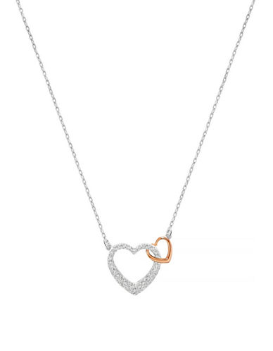 Swarovski Dear Small Hearts Necklace-SILVER-One Size