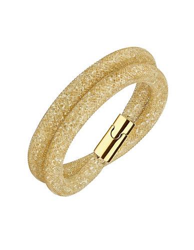 Swarovski Stardust Deluxe Crystal Rose-Goldplated Wrap Bracelet-GOLD-One Size