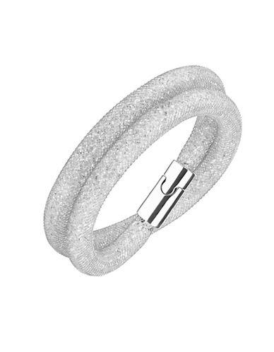 Swarovski Stardust Deluxe Crystal Rose-Goldplated Wrap Bracelet-SILVER-One Size