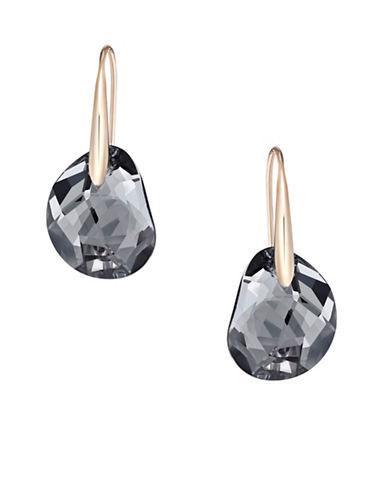 Swarovski Galet Crystal Pierced Earrings-BLACK-One Size