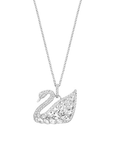 Swarovski Swan Lake Crystal Rhodium-Plated Pendant Necklace-CRYSTAL-One Size
