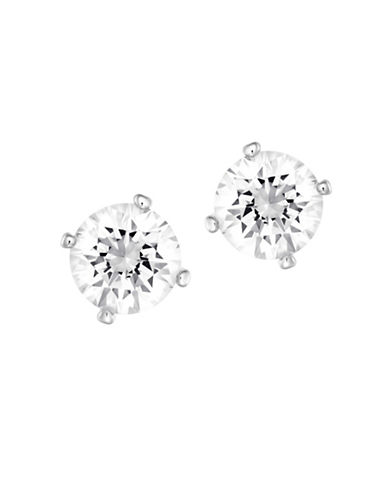 Swarovski Attract Crystal and Pearl Pierced Earrings-NATURAL-One Size