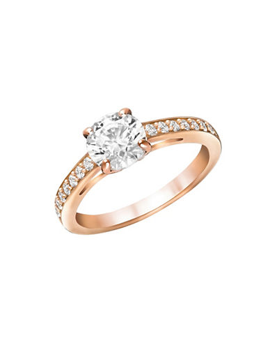 Swarovski Attract Round-Cut Crystal Ring-ROSE GOLD-8