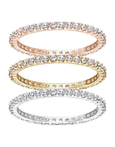 Swarovski Vittore Crystal Rose Three Ring Set-ASSORTED-6