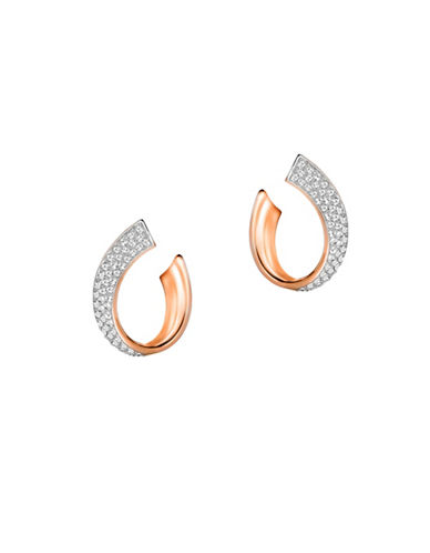 Swarovski Exist Crystal Small Pierced Hoop Earrings-PINK-One Size