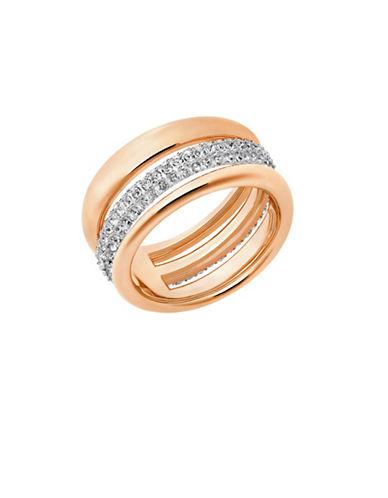 Swarovski Exact Swarovski Crystals Rose Goldplated Ring-ROSE GOLD-7