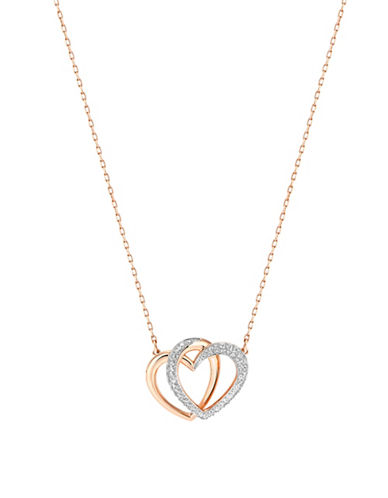 Swarovski Dear Medium Hearts Necklace-ROSE GOLD-One Size