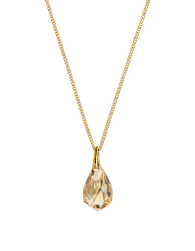 Swarovski Faceted Energetic Drop Necklace-GOLD-One Size