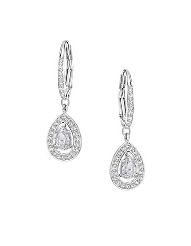 Swarovski Attract Light Pear Pierced Earrings-CRYSTAL-One Size