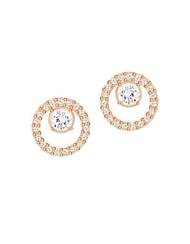 Swarovski Creativity Crystal Circle Small Pierced Earrings-ROSE GOLD-One Size